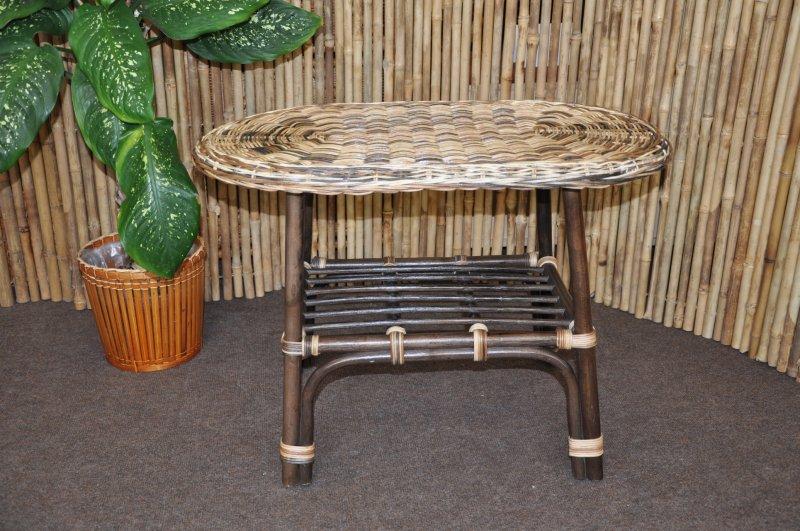 ratanový stolek Borobudur oválný