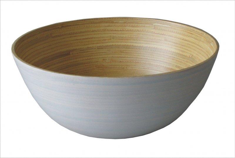 Bambusová miska bílá velká
