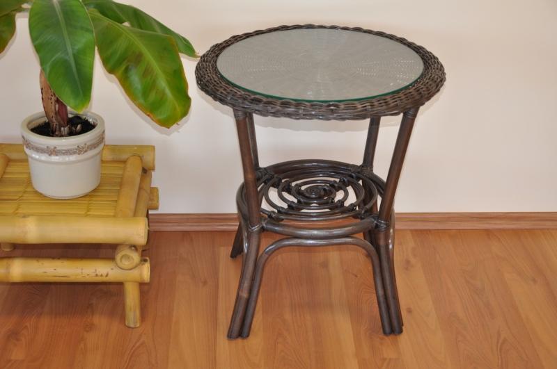 Ratanový stolek Utan hnědý