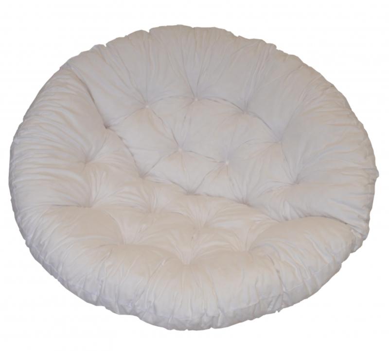 Polstr na křeslo papasan 100 cm bílý