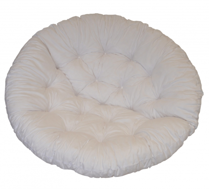 Polstr na křeslo papasan 110 cm bílý