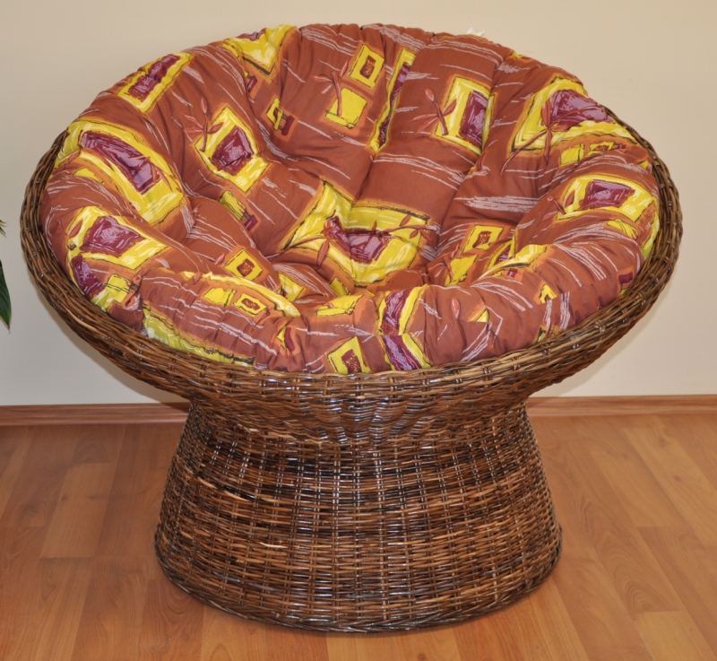 Ratanov� papasan Coco polstr hn�d� list