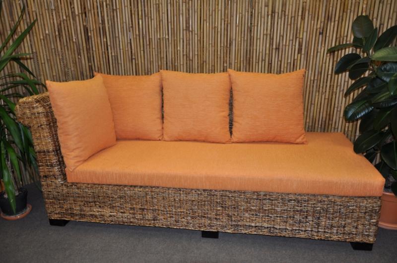 Odpočinková pohovka Malas pravá banánový list polstr oranžový