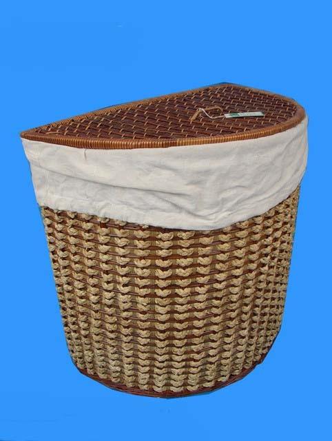 Prádelní koš půlkulatý