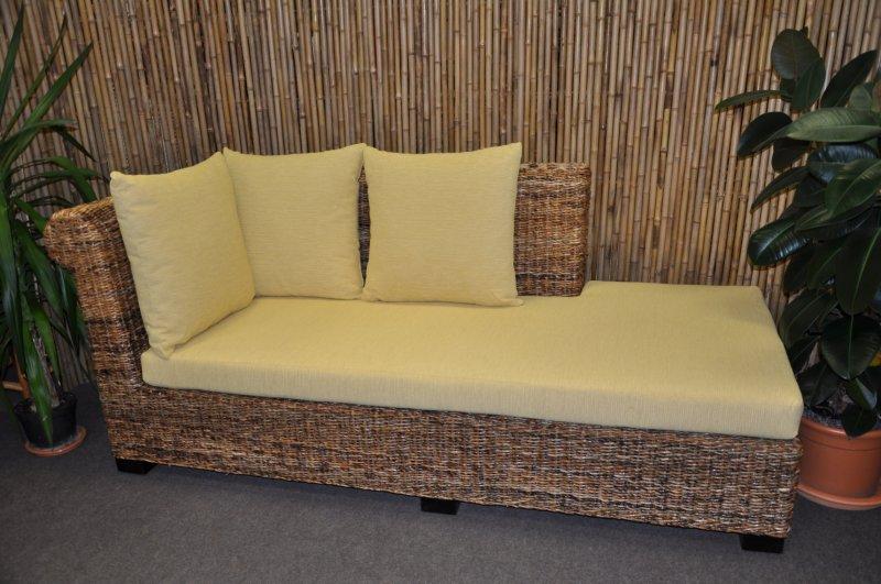 Odpočinková pohovka Malas pravá banánový list polstr žlutý