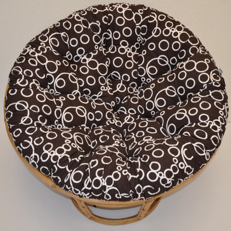 Polstr na křeslo papasan 110 cm bubliny