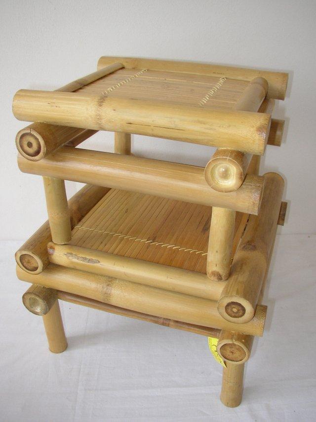 Bambusová stolička set 2 ks