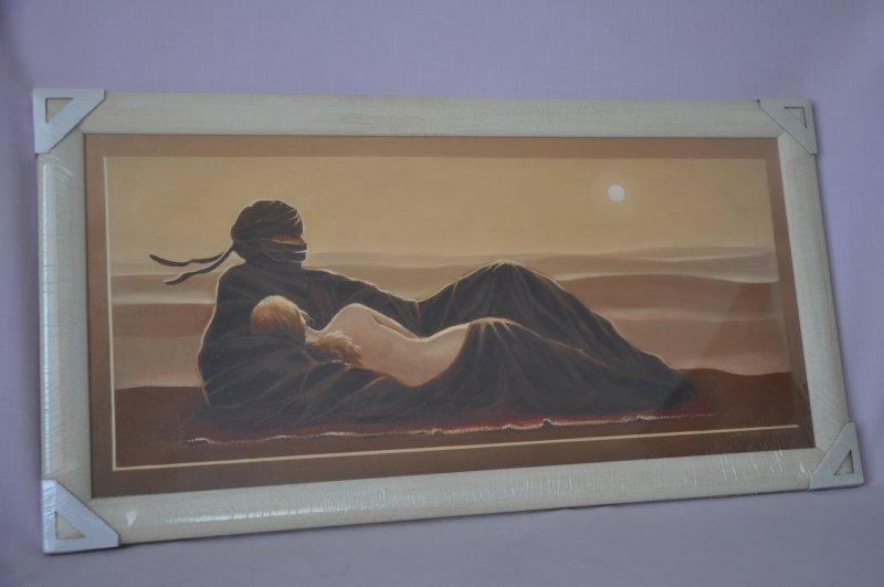 Obraz Sahara 77x40 světlý rám O4