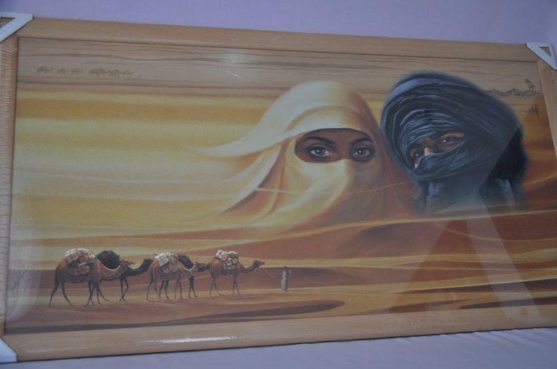 Obraz Sahara 107x57 světlý rám O13