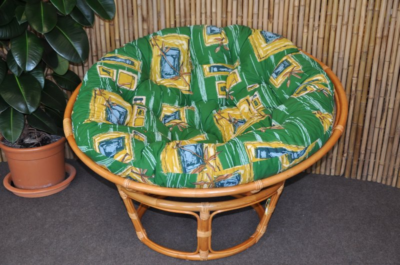 Polstr na křeslo papasan 100 cm zelený