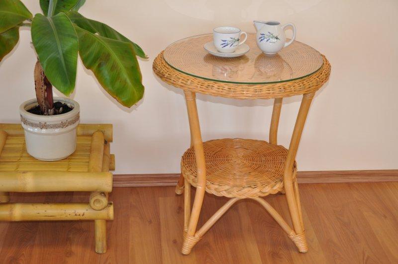 Ratanový stolek Tura medový