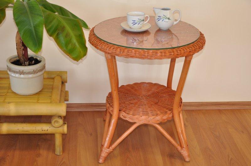 Ratanový stolek Tura koňak