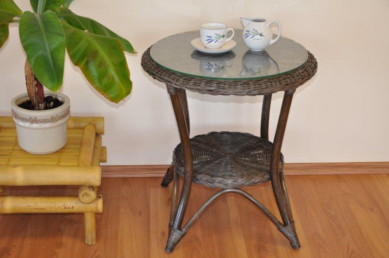 Ratanový stolek Tura hnědý
