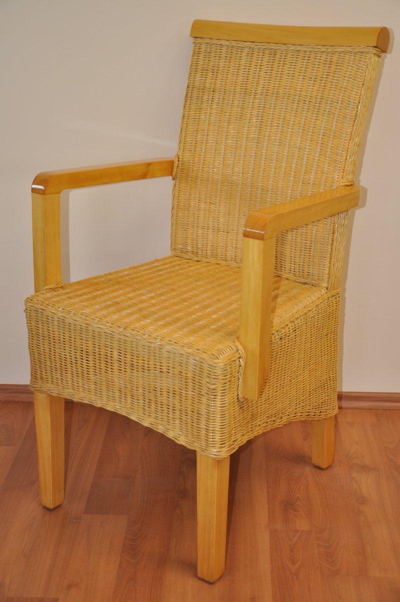 Ratanová židle Lari medová s područkou