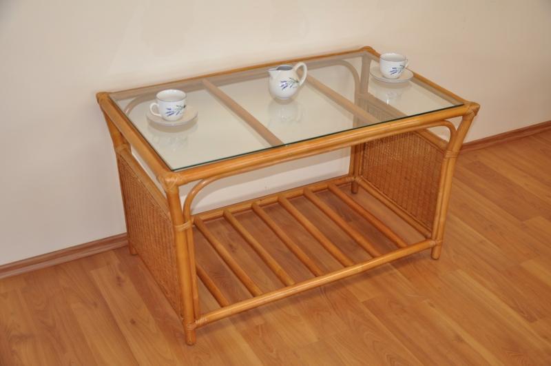Ratanový stolek Stanley velký medový