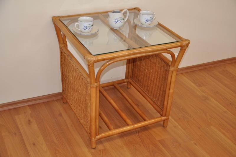 Ratanový stolek Stanley medový malý