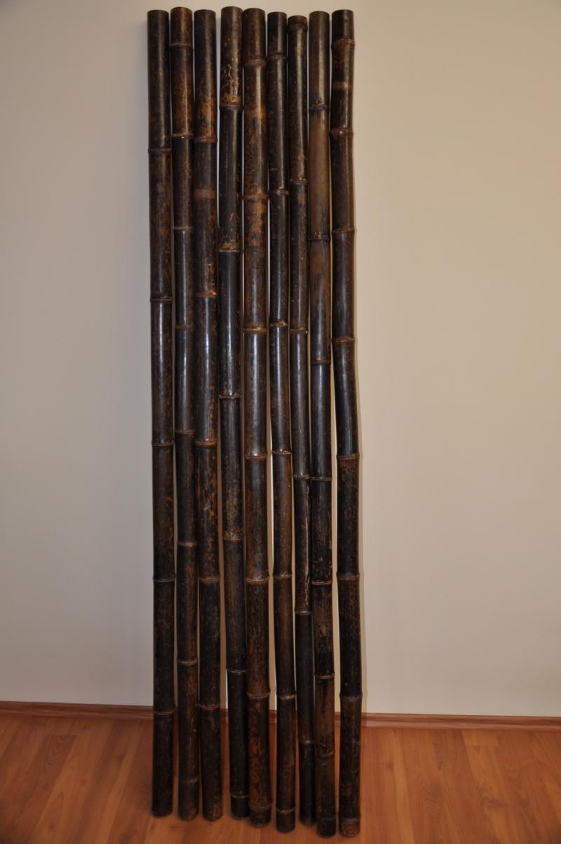 Bambusová tyč 5-6 cm, délka 2 metry, bambus black