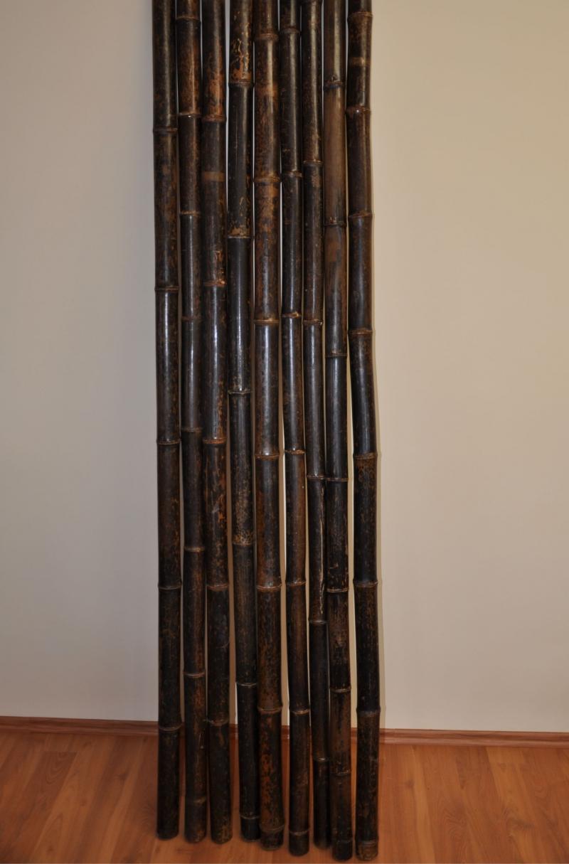 Bambusová tyč 5-6 cm, délka 4 metry, bambus black