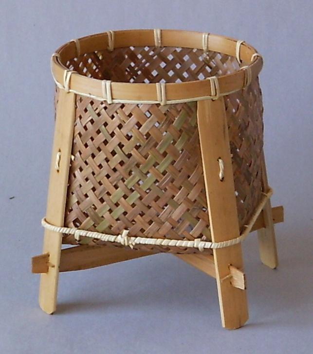 Bambusový košík střední