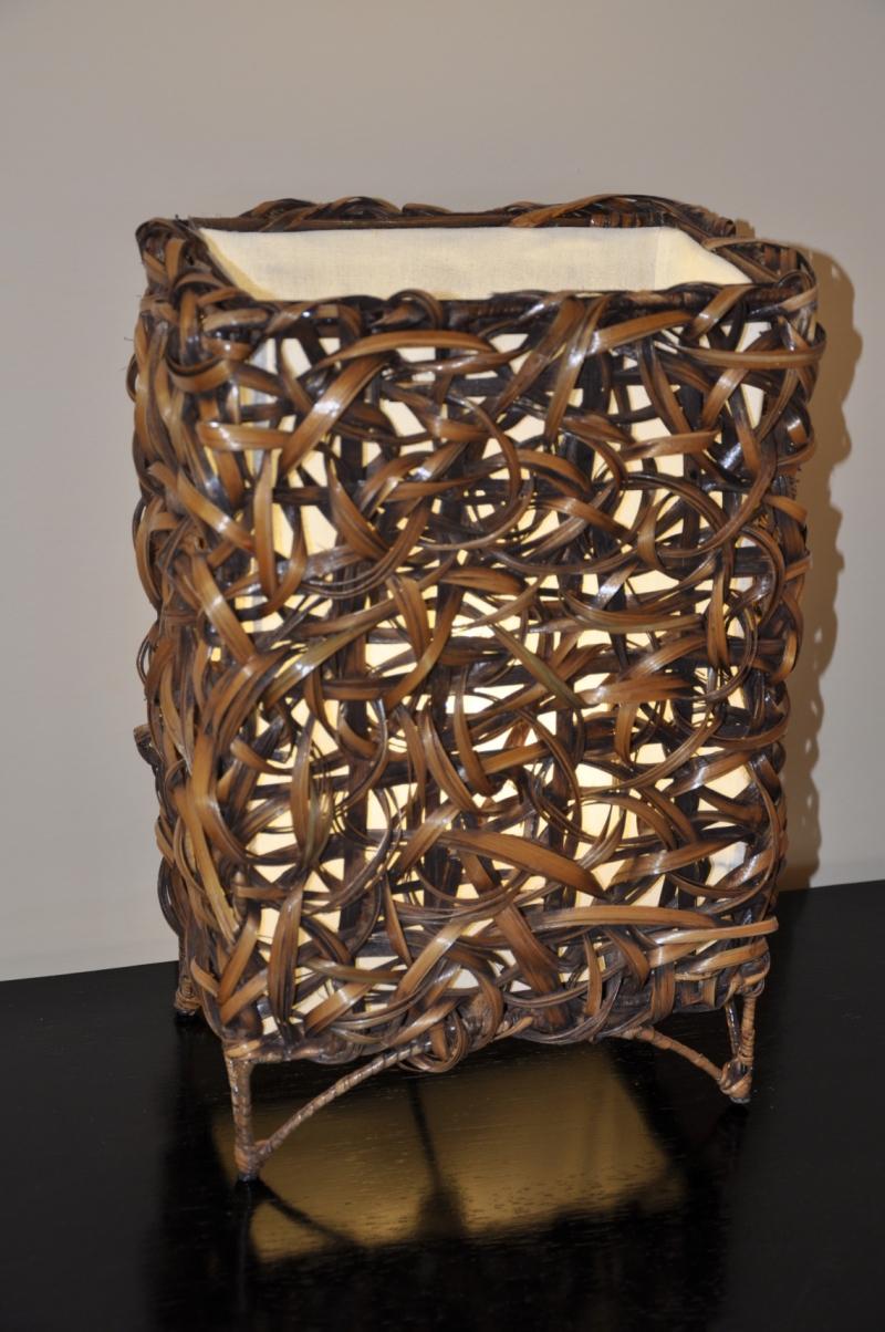 Lampa bambusová malá rovná