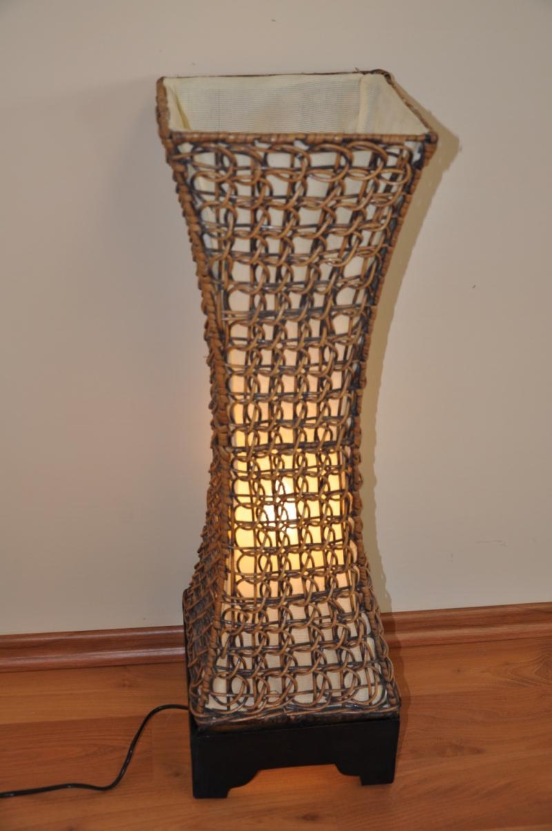 Lampa ratanová střední včetně LED žárovky
