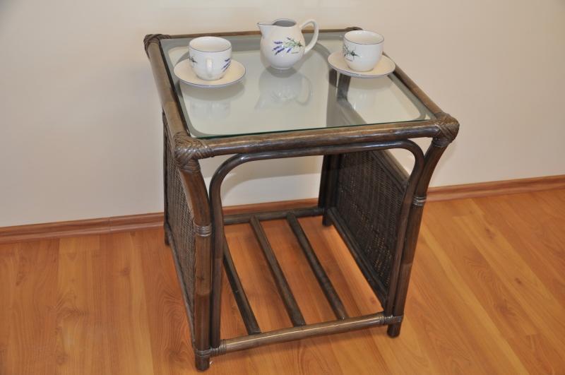 Ratanový stolek Stanley hnědý malý