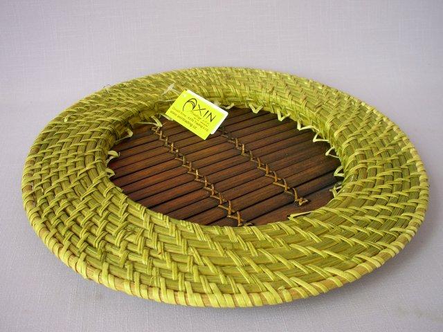 Bambusovo ratanový tácek zelený