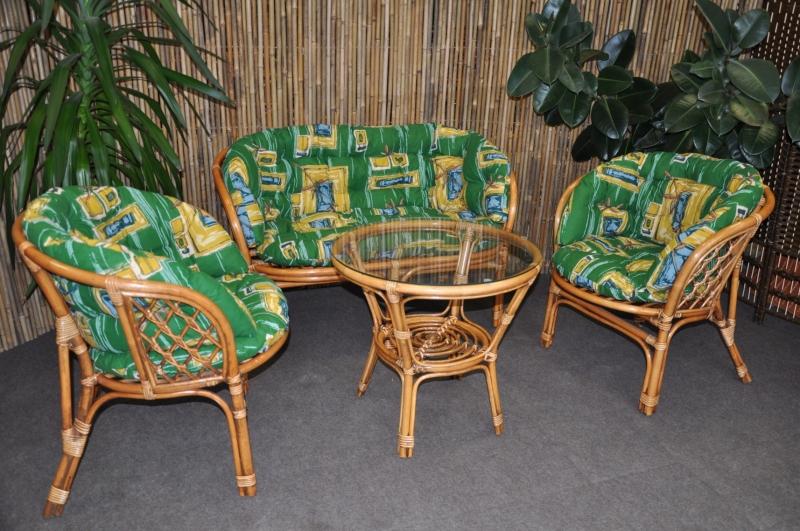 Polstry na soupravu Cayman velká zelené  MAXI
