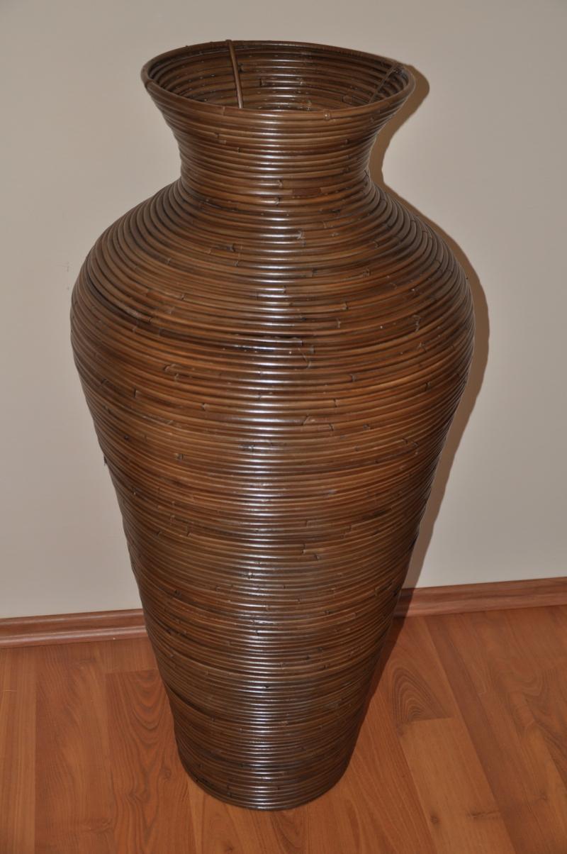 Váza ratanová hnědá L