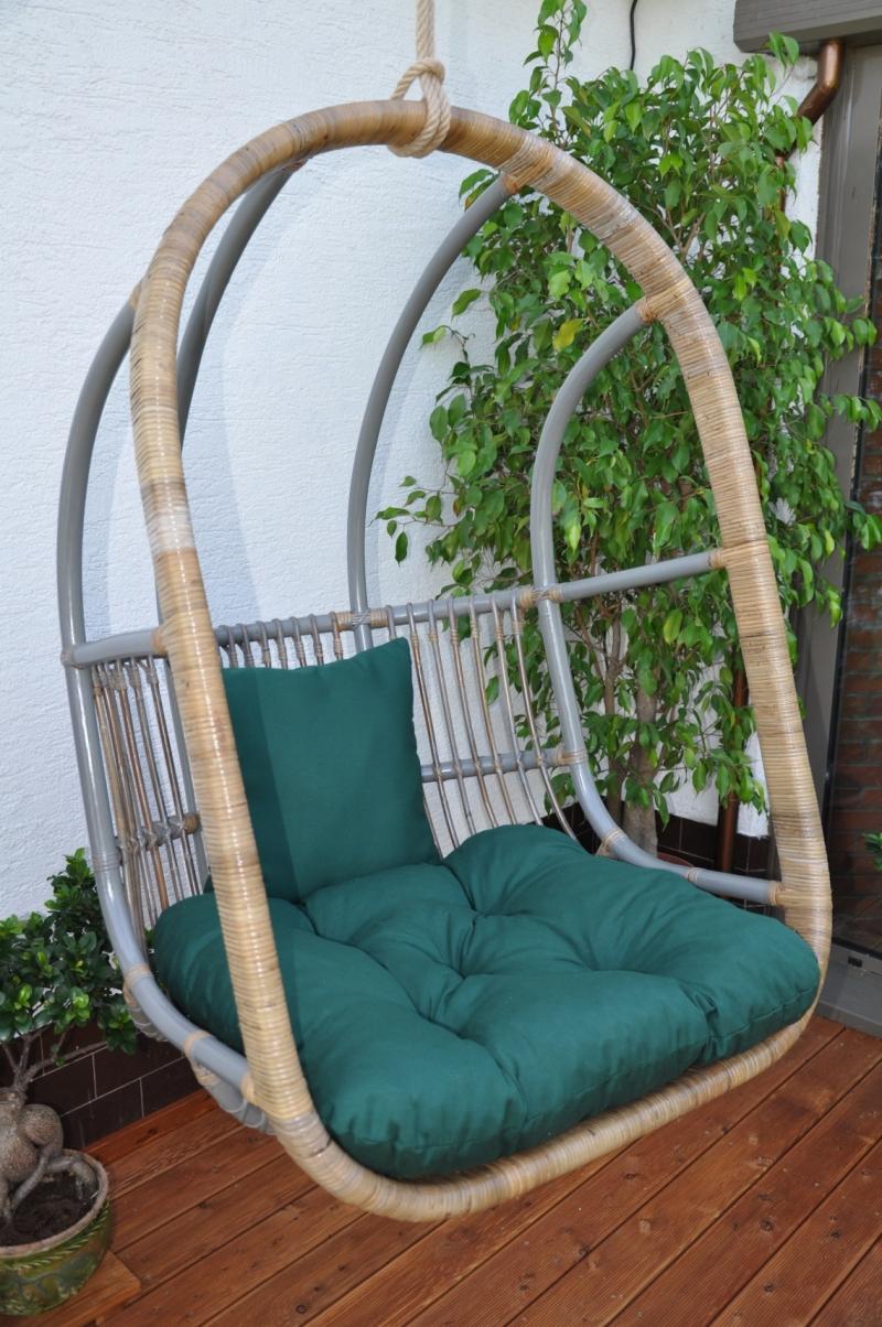 Houpačka závěsná Cortillard polstr zelený dralon