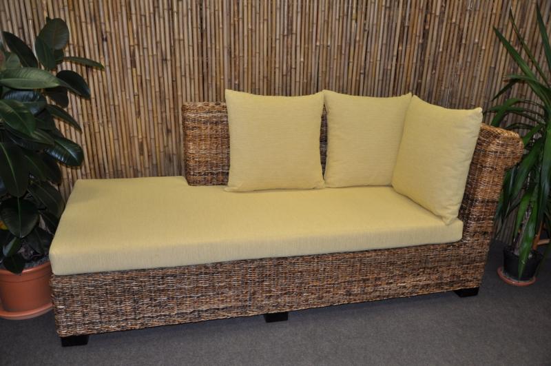Odpočinková pohovka Lazy levá banánový list polstr žlutý