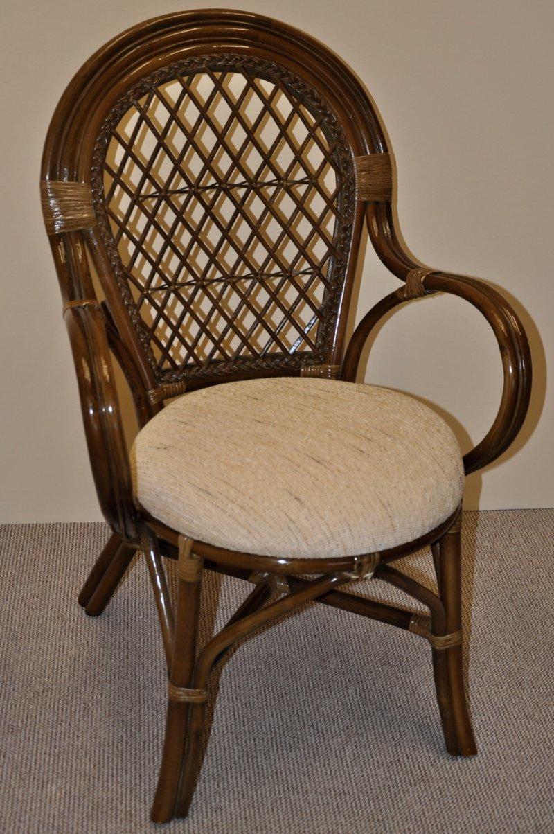 Ratanová židle Jáva hnědá