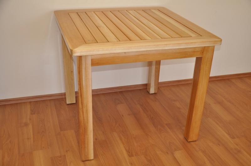 Stůl Feiffer mahagonové dřevo 90x90