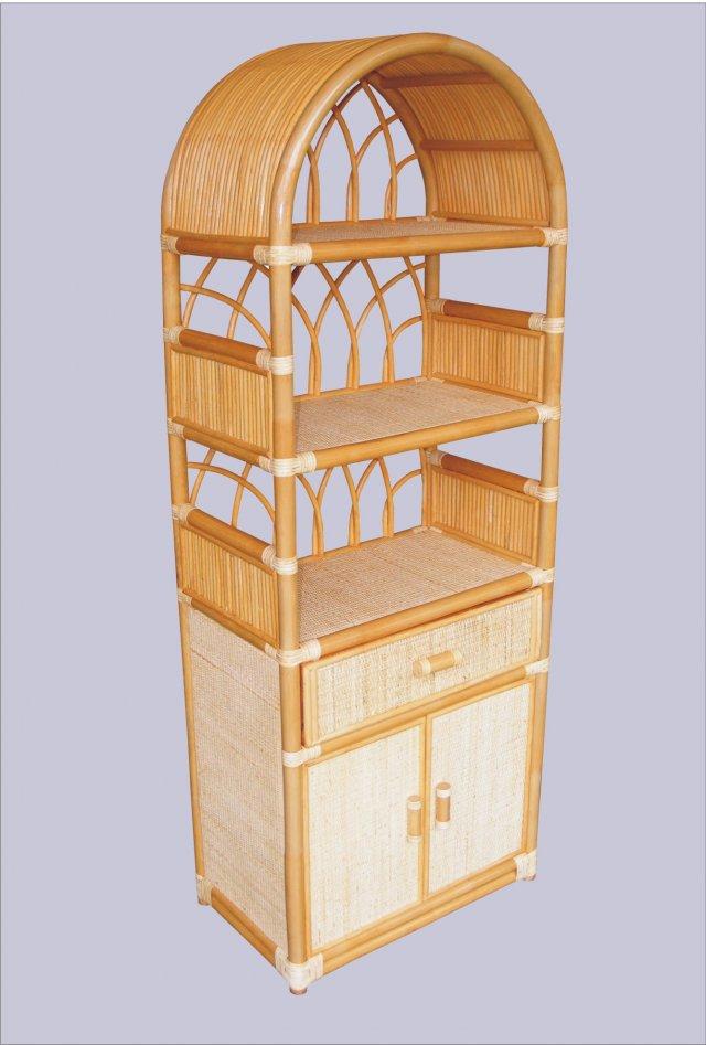 Ratanová skříňka zásuvka dvířka medová 6840