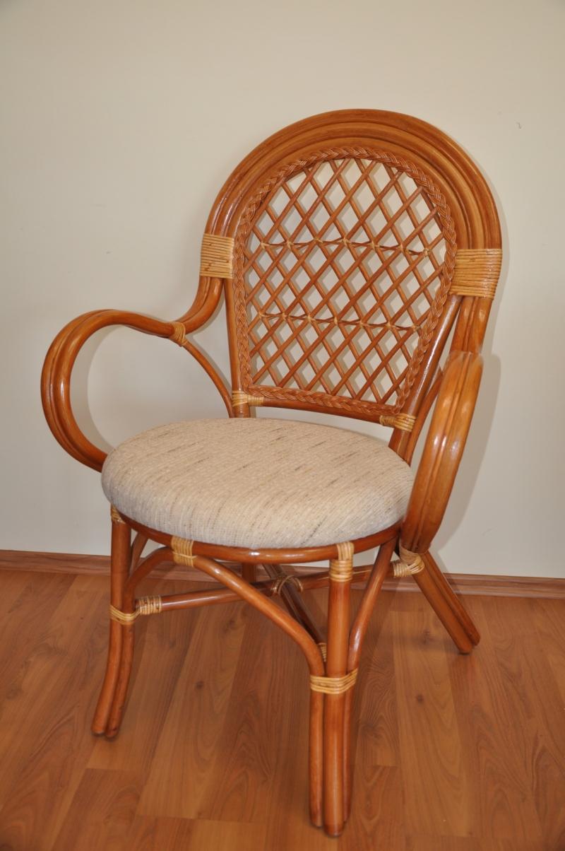 Ratanová židle Jáva koňak