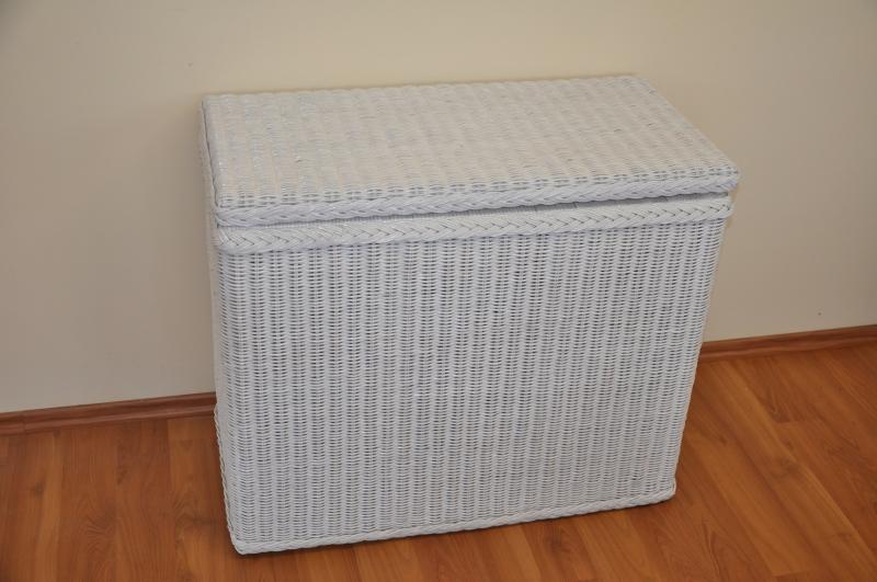 Ratanová prádelní truhla LTC bílá