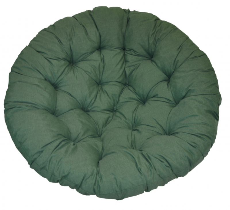 Polstr na křeslo papasan 115 cm tmavě zelený melír