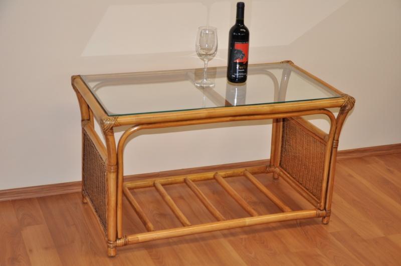 Ratanový stolek Stanley velký brown wash
