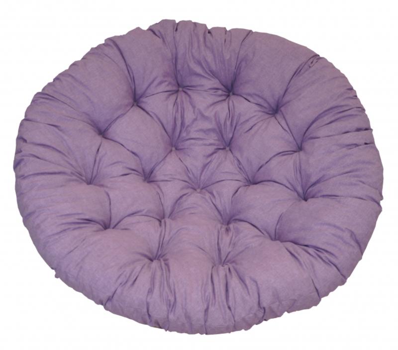 Polstr deluxe na křeslo papasan 100 cm - látka fialový melír