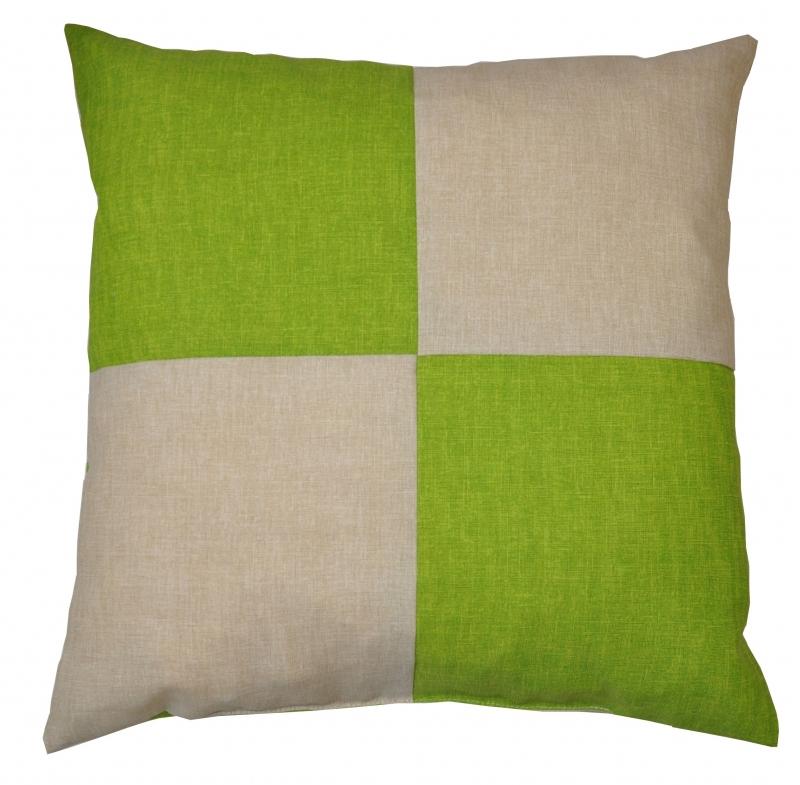 Veselý polštářek - béžová/světle zelená