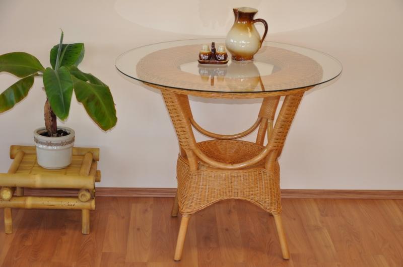 Ratanový stůl jídelní Phuket med